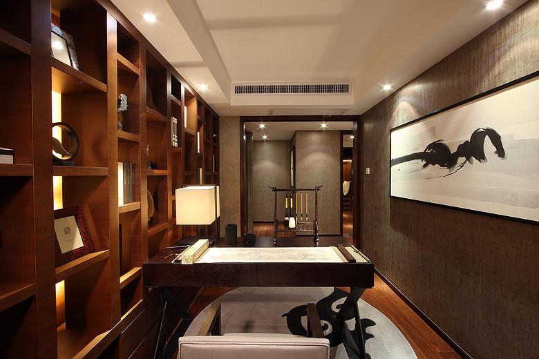 三居 中式 峰光无限 书房图片来自西安峰光无限装饰在华润・二十四城三居135平中式的分享