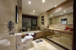 三居 中式 峰光无限 卫生间图片来自西安峰光无限装饰在华润・二十四城三居135平中式的分享
