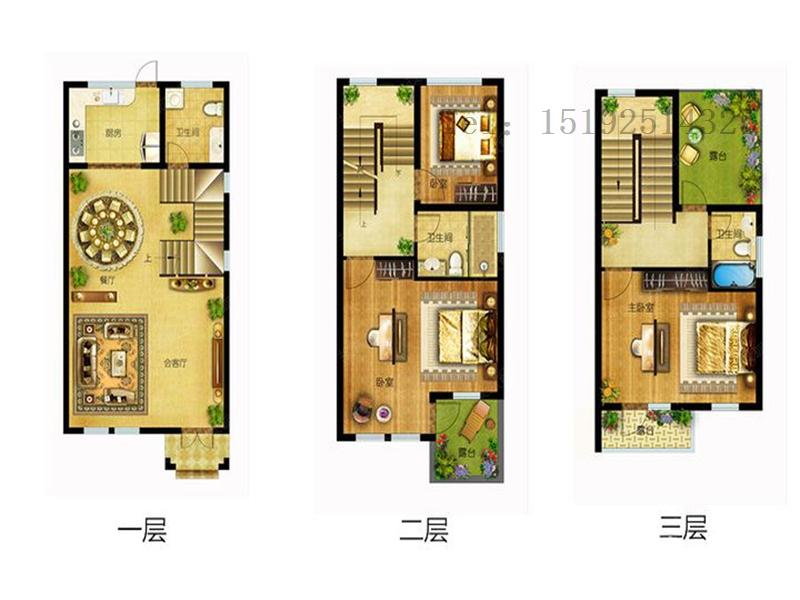 新中式 明德小镇 小资 别墅 户型图图片来自快乐彩在明德小镇联排别墅东户192平的分享