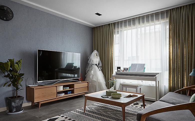 客厅图片来自家装大管家在让型男心动 70平酷雅工业风公寓的分享
