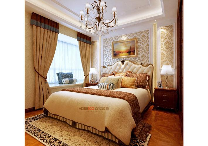 美式风格 百家装饰 沈阳装修 室内设计 卧室图片来自百家装饰--小莹在保利康桥 257平美式风格的分享