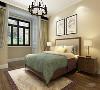 两个次卧就更显现代一点,几何动物挂画,花朵造型吊灯简洁大方。
