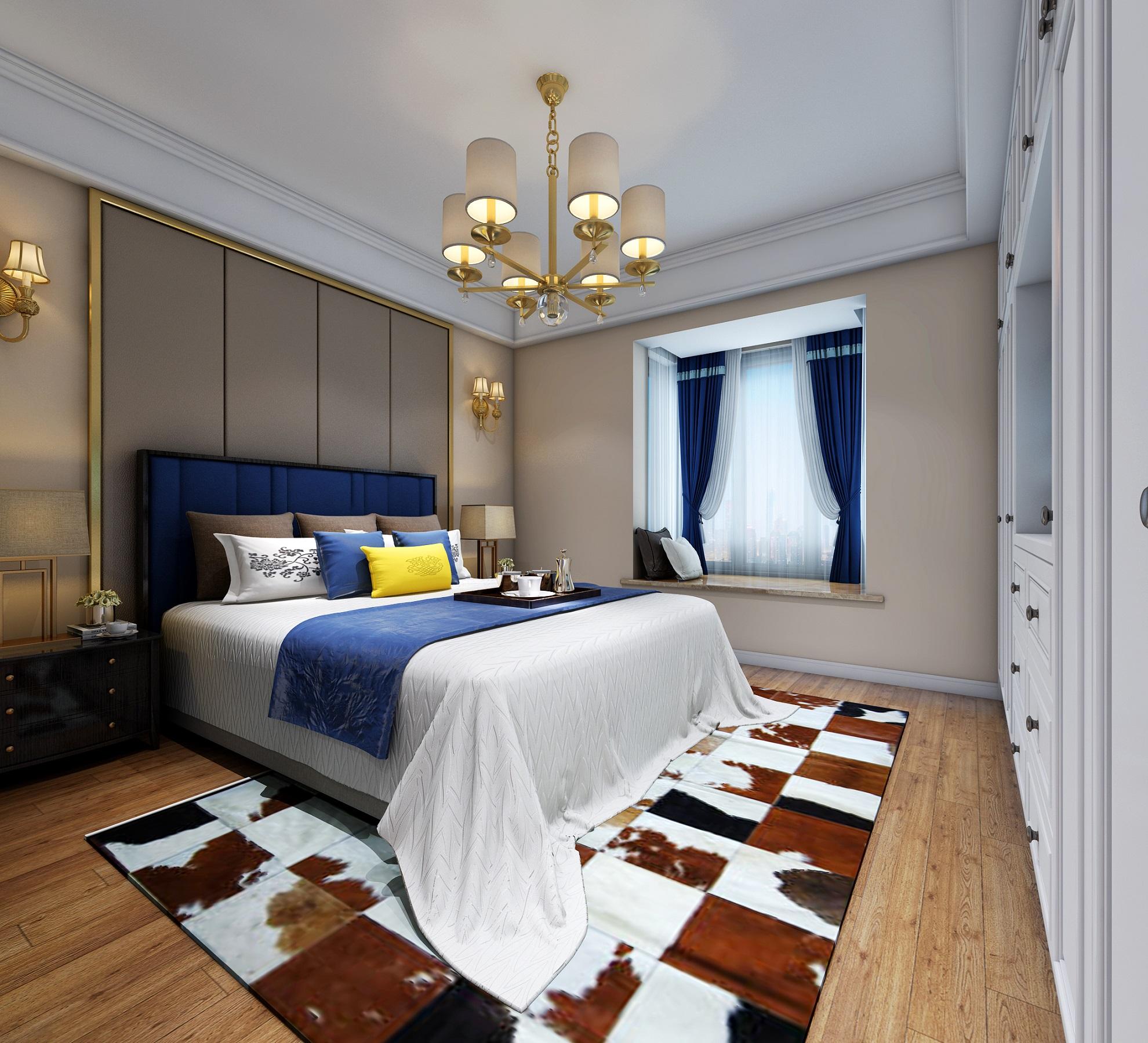小资 三居 卧室图片来自唯真装饰在招商1872的分享