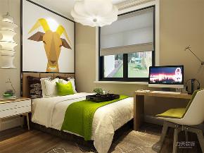 混搭 乳胶漆 三居室 现代 温馨 卧室图片来自阳光力天装饰在力天装饰-剑桥郡-98㎡-混搭的分享