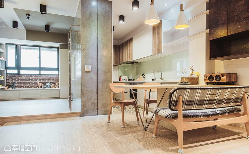二居 旧房改造 休闲 餐厅图片来自幸福空间在七刀破难!与40年老公寓的对决的分享