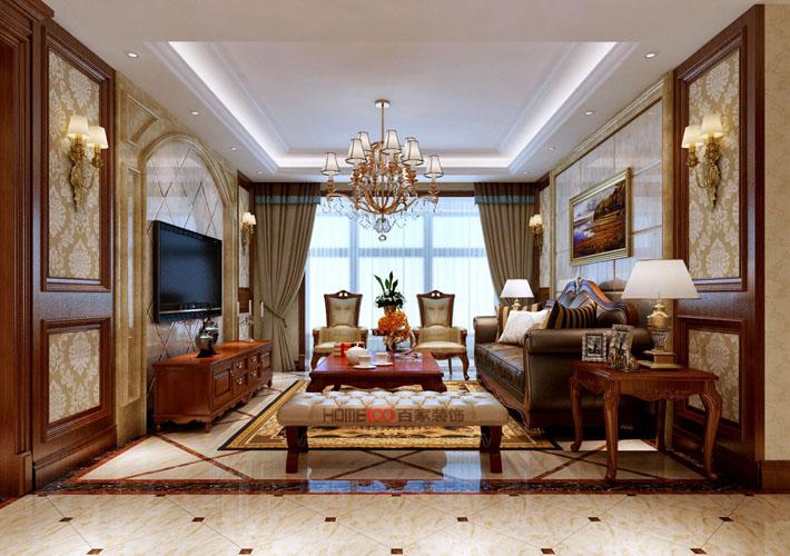 美式风格 百家装饰 沈阳装修 室内设计 客厅图片来自百家装饰--小莹在保利康桥 257平美式风格的分享