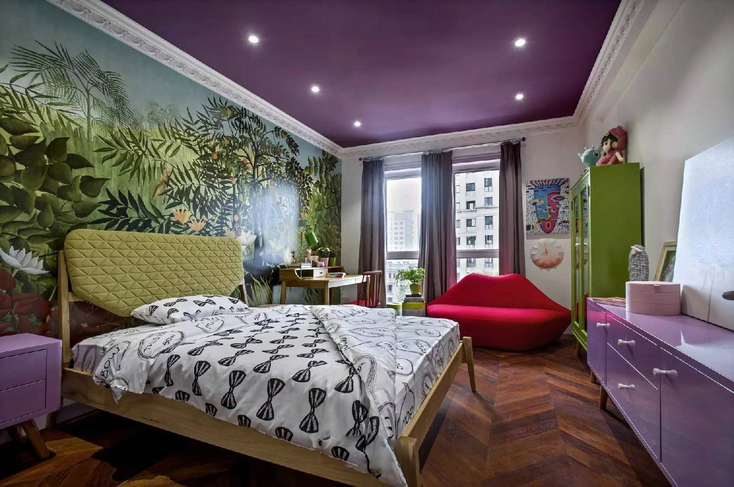 简约 北欧 三居 小资 卧室图片来自别墅设计师杨洋在北欧简约混搭色彩案例的分享