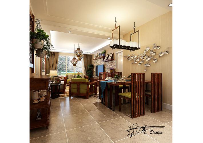 三居 其仕盛和祥 美式乡村 客厅图片来自百家设计小刘在其仕盛和祥120平美式乡村风格的分享