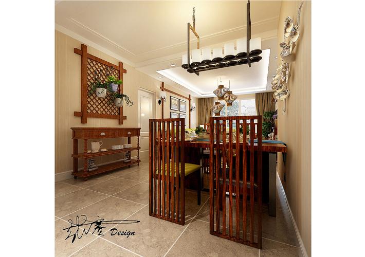 三居 其仕盛和祥 美式乡村 餐厅图片来自百家设计小刘在其仕盛和祥120平美式乡村风格的分享