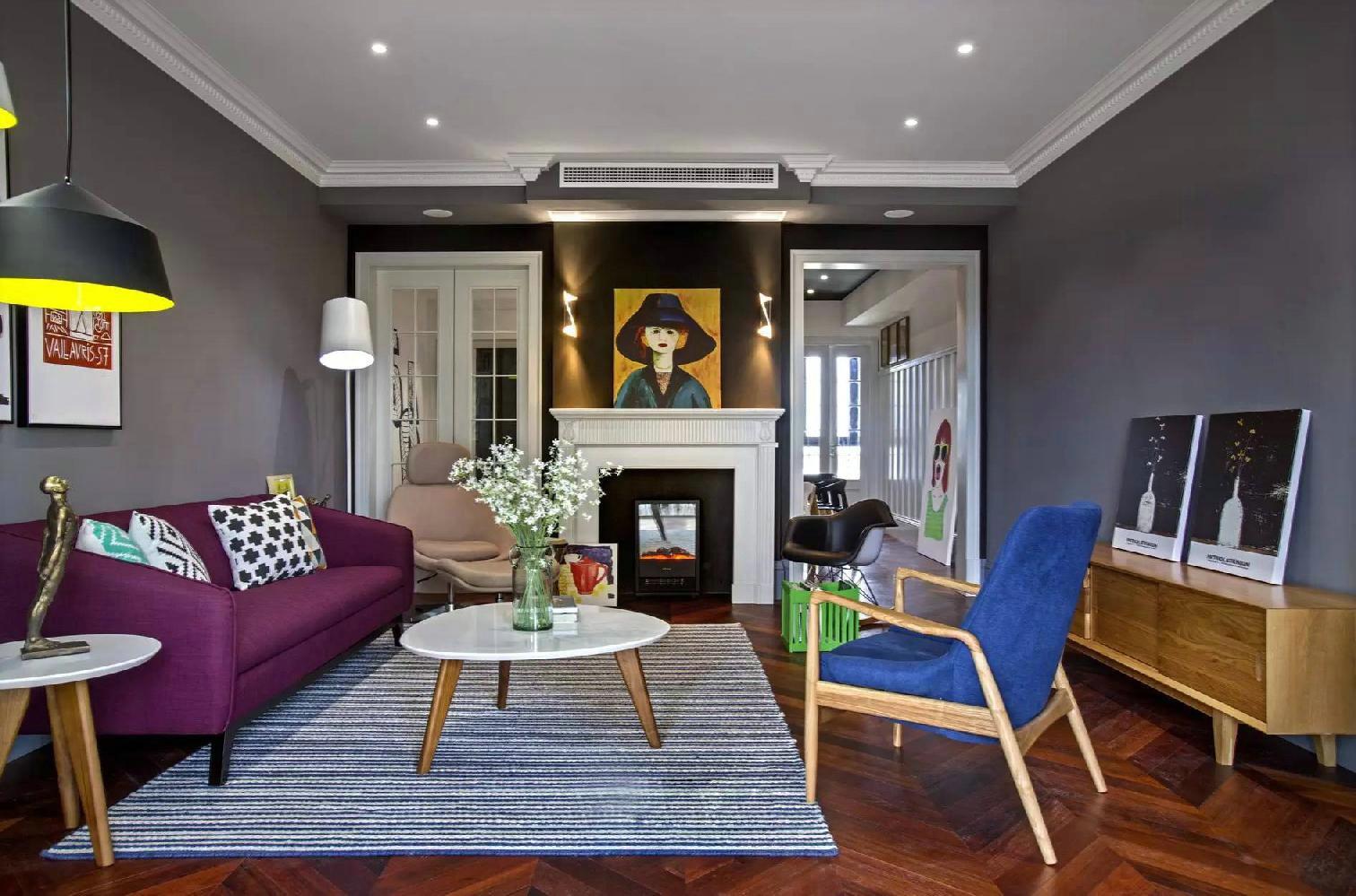 简约 北欧 三居 小资 客厅图片来自别墅设计师杨洋在北欧简约混搭色彩案例的分享