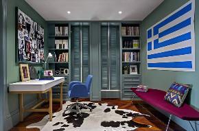 简约 北欧 三居 小资 书房图片来自别墅设计师杨洋在北欧简约混搭色彩案例的分享