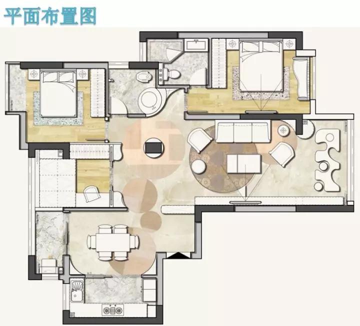简约 欧式 田园 混搭 二居 三居 别墅 客厅 卧室图片来自生活家-月昂在明昇壹城设计大赛得奖作品赏析的分享