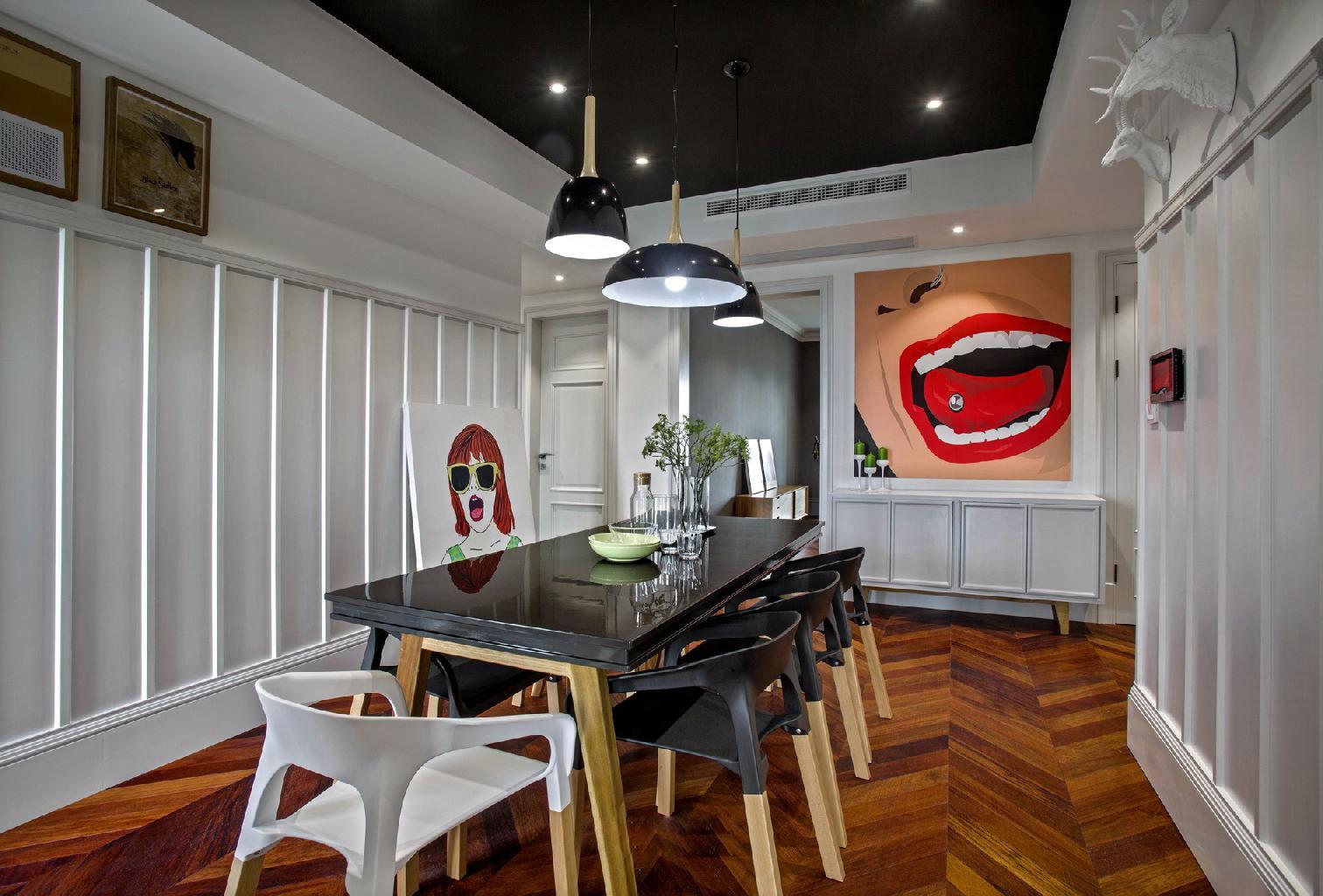 简约 北欧 三居 小资 餐厅图片来自别墅设计师杨洋在北欧简约混搭色彩案例的分享