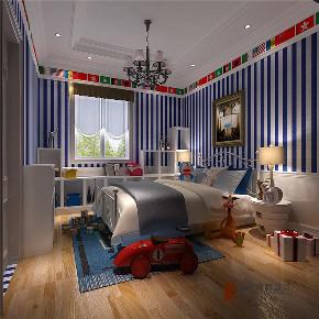 美式 别墅 大户型 复式 跃层 高帅富 80后 儿童房图片来自高度国际姚吉智在500㎡美式轻奢有度一墅绝代风华的分享