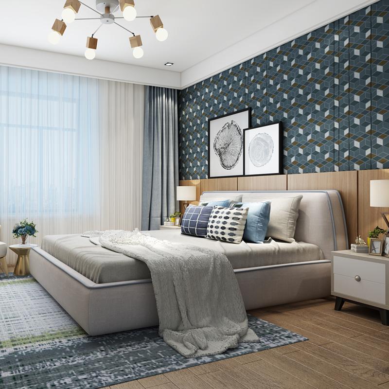 简约 欧式 三居 白领 收纳 80后 设计 装修 家居 卧室图片来自生活家-月昂在清新淡雅的北欧调调的分享