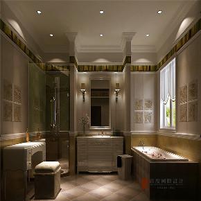 美式 别墅 大户型 复式 跃层 高帅富 80后 卫生间图片来自高度国际姚吉智在500㎡美式轻奢有度一墅绝代风华的分享