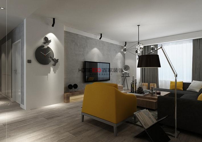 客厅图片来自沈阳百家装饰小姜在奉天九里143平现代风格的分享