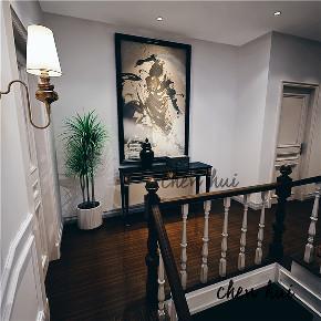 简约 别墅 简美 美式 楼梯图片来自众意装饰 李潇在蔷薇溪谷260平简美风格案例的分享