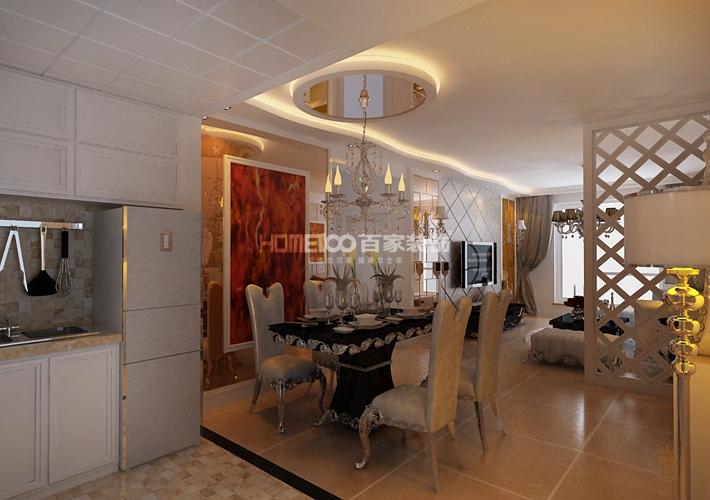 二居 中海城 新古典 餐厅图片来自百家设计小刘在中海城96平新古典风格半包3.6万的分享