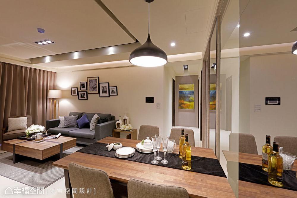 三居 北欧 餐厅图片来自幸福空间在美感与机能兼备 99平休闲北欧风的分享