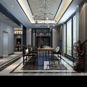 简约 欧式 田园 混搭 别墅 白领 收纳 旧房改造 80后 书房图片来自杭州高度国际装饰设计在潮闻天下291平方新中式风格的分享