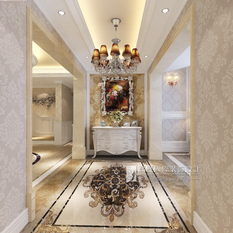 简约 欧式 田园 混搭 别墅 旧房改造 80后 小资 收纳 玄关图片来自杭州高度国际装饰设计在保利霞飞郡300平方欧式风格的分享