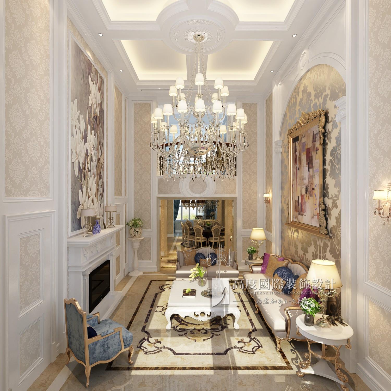简约 欧式 田园 混搭 别墅 旧房改造 80后 小资 收纳 客厅图片来自杭州高度国际装饰设计在保利霞飞郡300平方欧式风格的分享