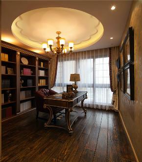 美式 欧式 三居 大户型 复式 跃层 东南亚 小资 书房图片来自高度国际姚吉智在137平米东南亚风格一房一辈子的分享
