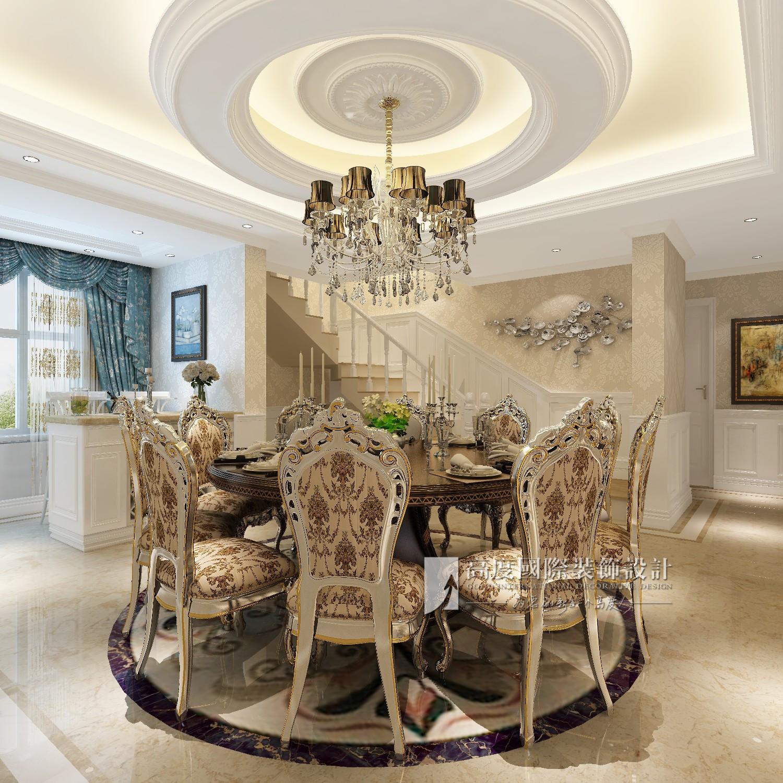 简约 欧式 田园 混搭 别墅 旧房改造 80后 小资 收纳 餐厅图片来自杭州高度国际装饰设计在保利霞飞郡300平方欧式风格的分享