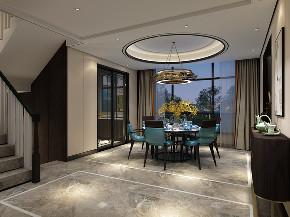 别墅 新中式 现代 楼梯图片来自田悦梵在恒大山水城的分享