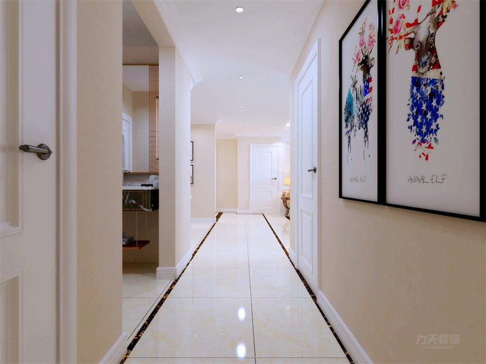 简约 美式 四居室 收纳 布局 玄关图片来自阳光力天装饰在力天装饰-港新西城-148㎡-简美的分享