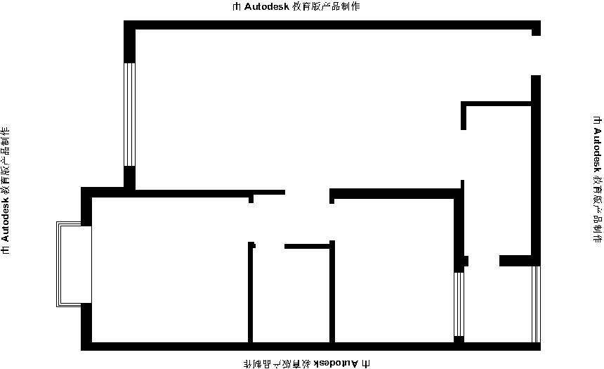 两居室 户型图图片来自阔达装饰小段在启迪协信81平 现代风格的分享