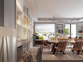 二居 白领 小资 混搭 北欧 工业 平层 衣帽间 餐厅图片来自戴瑞强_样本国际在木棉-阳光上东大平层两居的分享