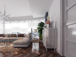 二居 白领 小资 混搭 北欧 工业 平层 衣帽间 客厅图片来自戴瑞强_样本国际在木棉-阳光上东大平层两居的分享
