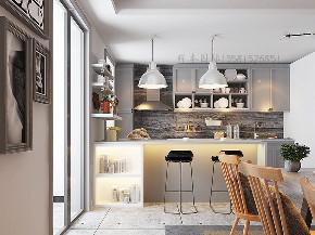 二居 白领 小资 混搭 北欧 工业 平层 衣帽间 厨房图片来自戴瑞强_样本国际在木棉-阳光上东大平层两居的分享