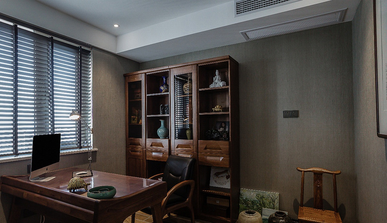 书房图片来自家装大管家在清新淡雅 130平新中式舒适3居室的分享