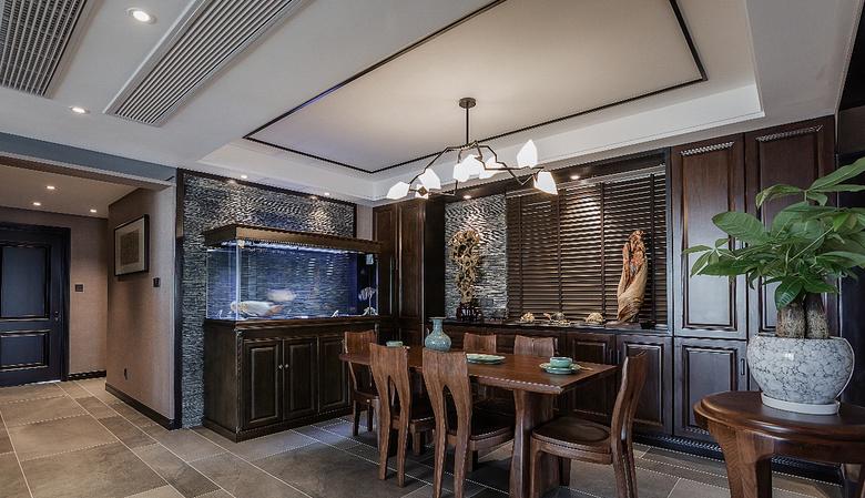 餐厅图片来自家装大管家在清新淡雅 130平新中式舒适3居室的分享