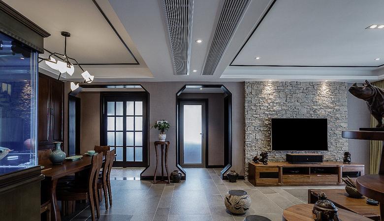 客厅图片来自家装大管家在清新淡雅 130平新中式舒适3居室的分享