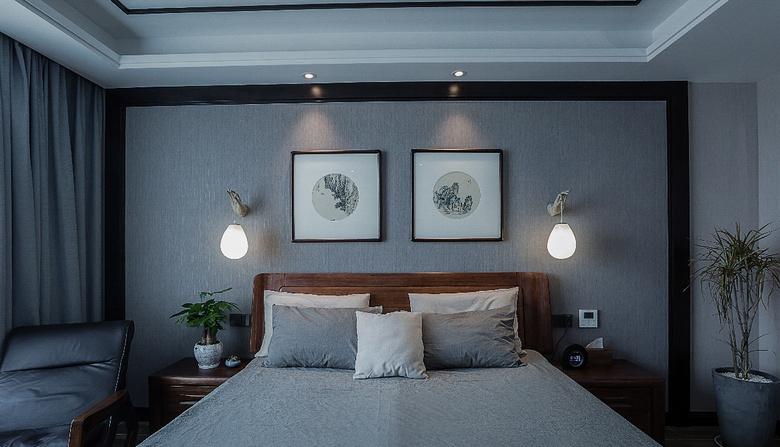 卧室图片来自家装大管家在清新淡雅 130平新中式舒适3居室的分享