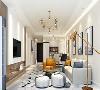 简约的造型,配以极具现代感的灯饰,营造温馨浪漫的居室。