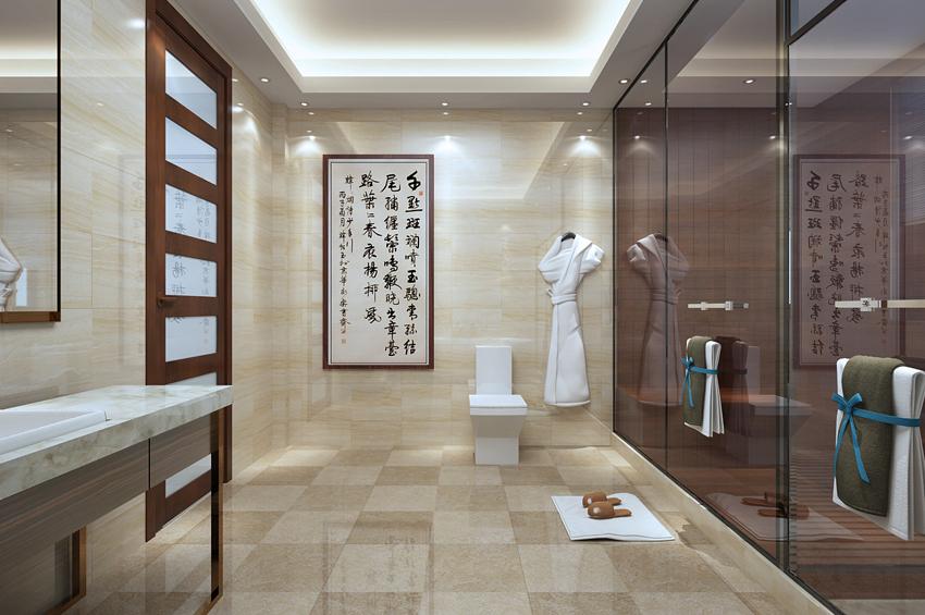 别墅 小资 卫生间图片来自山东济南尚舍别墅装饰在原山九号别墅美式的分享