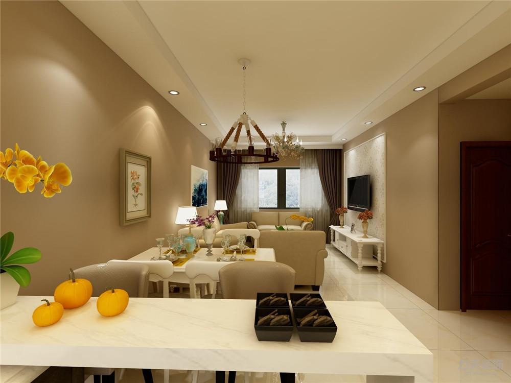 简约 现代 两居 吊顶 舒适 客厅图片来自阳光力天装饰在【力天装饰】-南益名士华庭-93㎡的分享