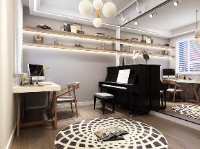 简约 三居 白领 收纳 80后 小资 现代 时尚 北欧 书房图片来自圣奇凯尚室内设计工作室在圣奇凯尚装饰-K2玉澜湾现代的分享