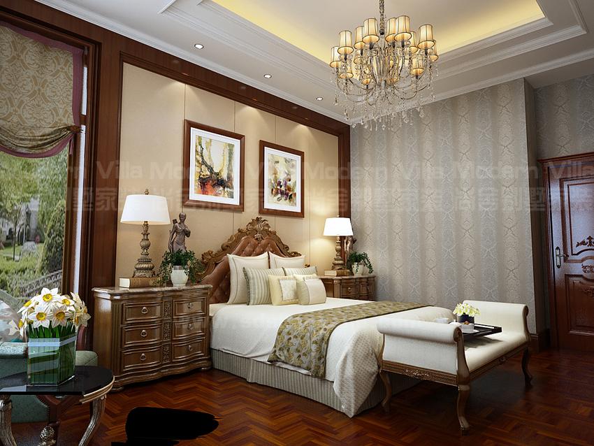 别墅 白领 收纳 小资 卧室图片来自山东济南尚舍别墅装饰在山东济南华润仰山美式的分享