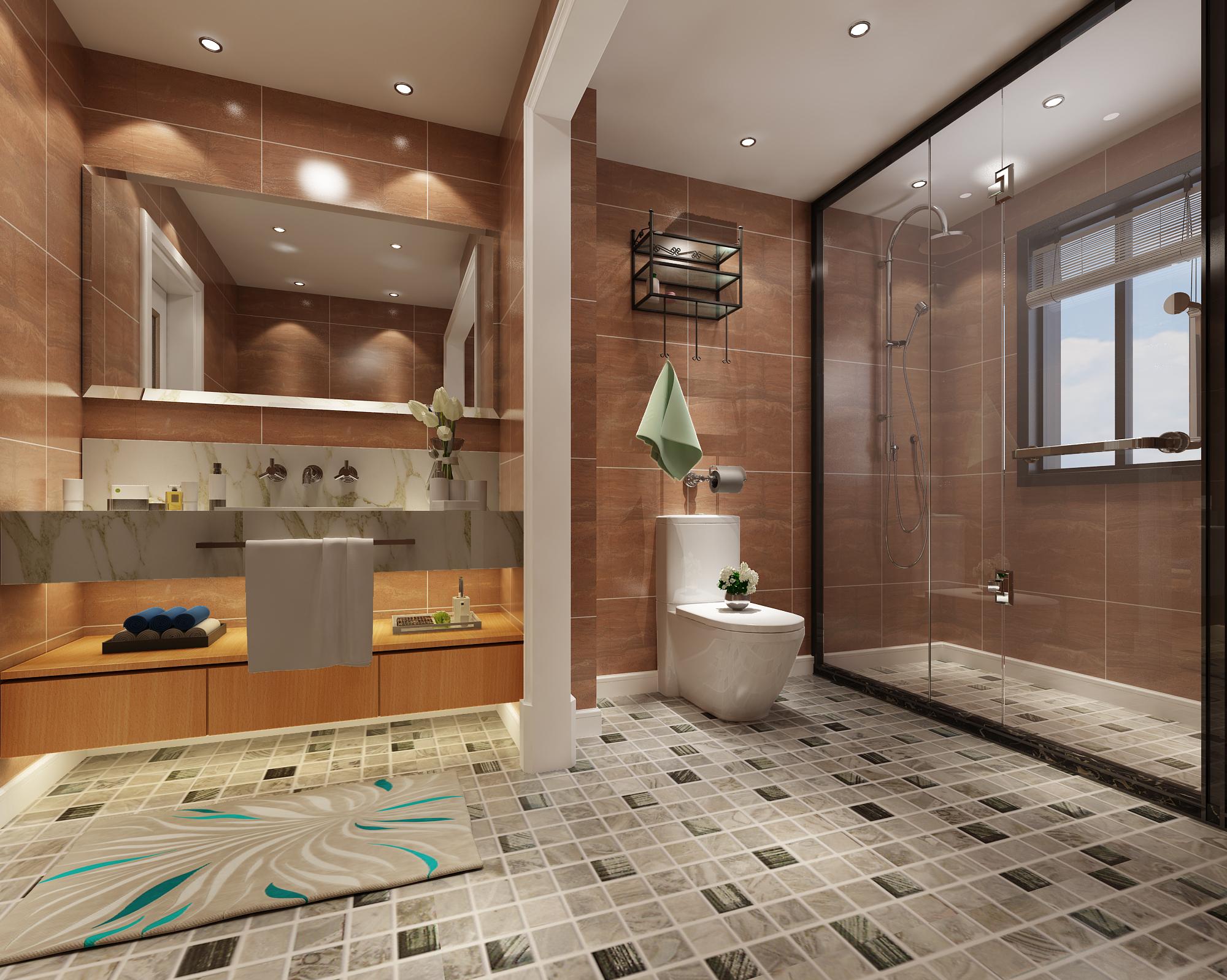 简约 田园 混搭 三居 白领 收纳 卫生间图片来自圣奇凯尚室内设计工作室在圣奇凯尚装饰--专属设计的分享