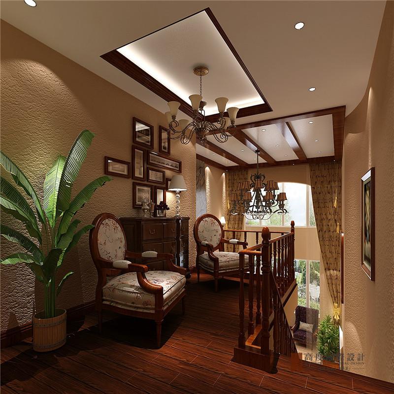美式 田园 别墅 复式 跃层 大户型 小资 楼梯图片来自高度国际姚吉智在170平米美式田园纯朴自然的美好的分享