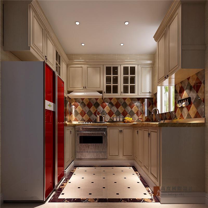 美式 田园 别墅 复式 跃层 大户型 小资 厨房图片来自高度国际姚吉智在170平米美式田园纯朴自然的美好的分享