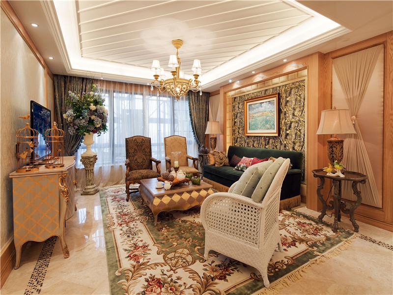 田园 复式 跃层 大户型 别墅 小资 80后 白领 客厅图片来自高度国际姚吉智在164平米田园如沐春风般自然温馨的分享
