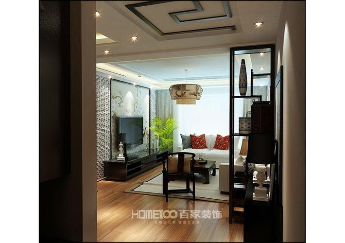 三居 其仕和裕 现代中式 客厅图片来自百家设计小刘在其仕和裕100平中式风格半包4万的分享