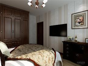 美式 两居 墙面漆 挂画 衣帽间 卧室图片来自阳光力天装饰在力天装饰-中信公园城-79㎡-美式的分享
